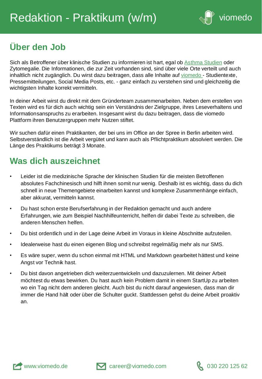 Document preview viomedo-job-redaktion.pdf - page 1/2