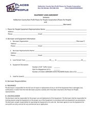 pfp equipment loan form