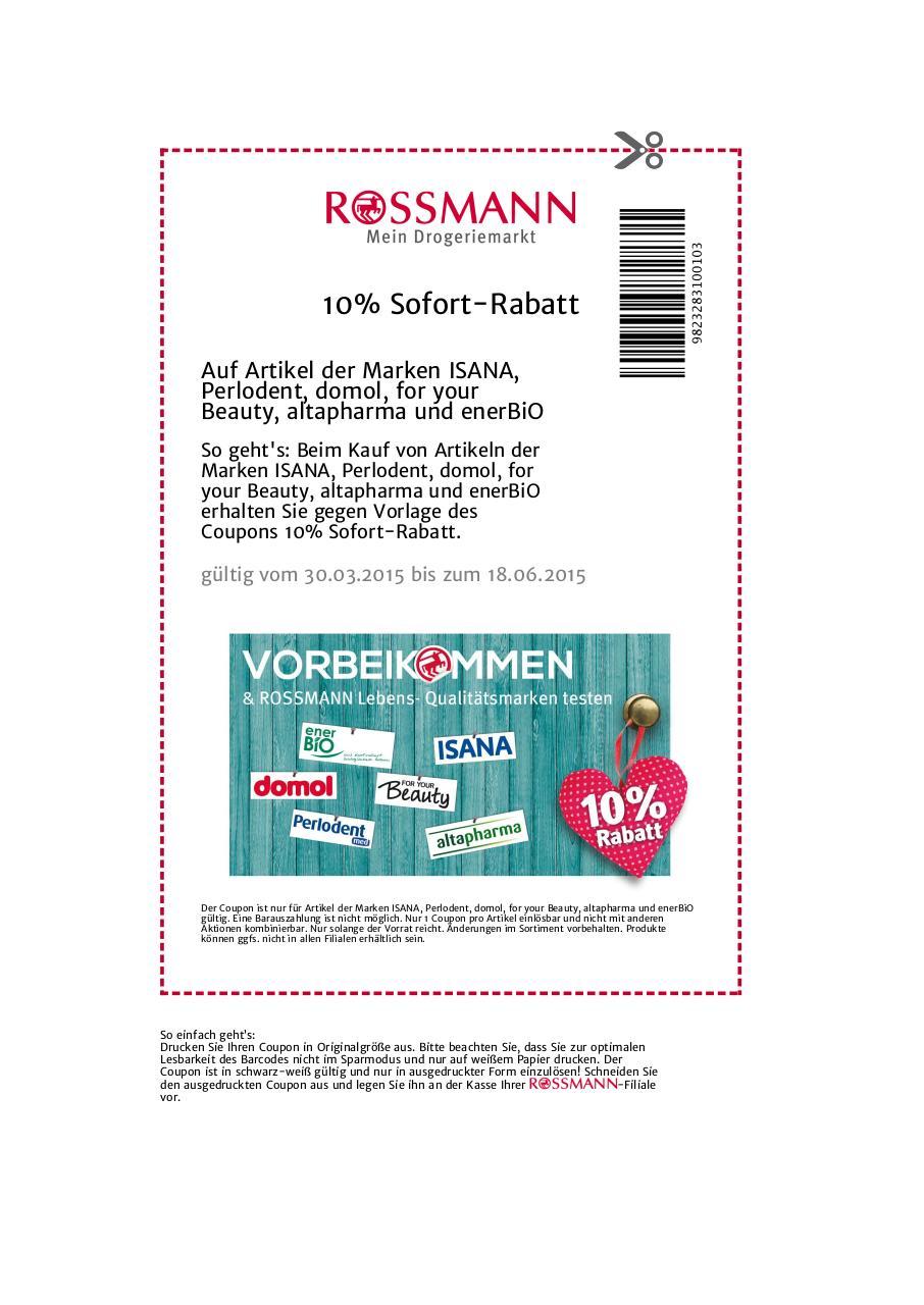 Rossmann prozente