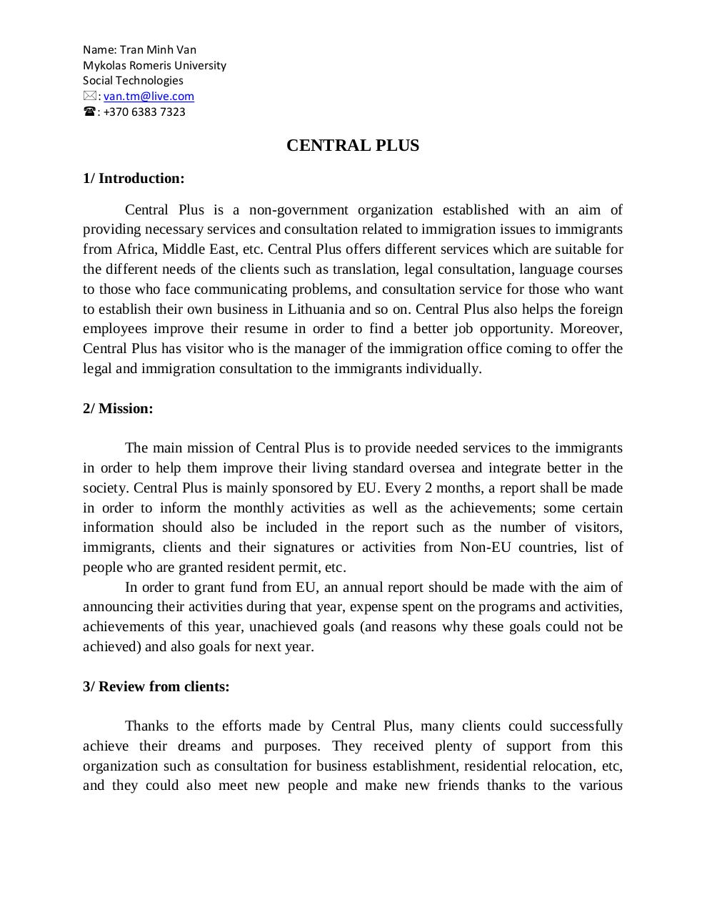 Document preview Central_Plus_Reflection_Van_Tran.pdf - page 1/3