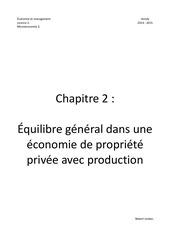 chapitre 2 economie de propriete privee avec production
