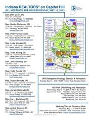 indiana hill visit schedule 2015