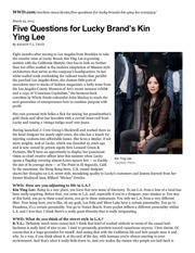 PDF Document five questions for lucky brand s kin ying lee