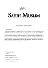 sahih muslim english translation 1