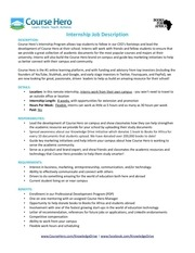 course hero internship job description 8 0