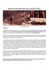 nepal earthquake recovery apeal strategic overview 2