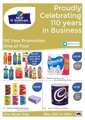 m p 110 year promotion no 1