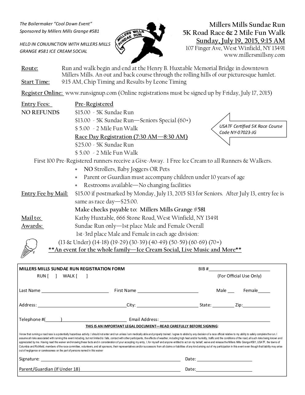 Document preview miller 21st annual race application 2015.pdf - page 1/1