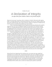 declaration of integrity