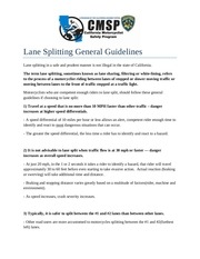 lanesplitting guidelines