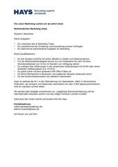PDF Document stellenanzeige werkstudent marketing ibe