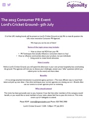 consumer pr event 7th july invitation