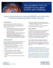 internship in recruitment marketing review