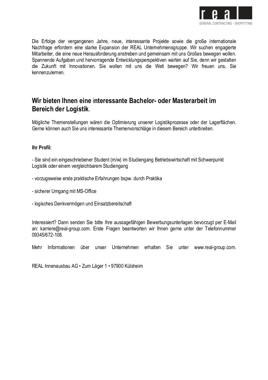Document preview STA-Bachelor oder Masterarbeit im Bereich der Logistik.pdf - page 1/1