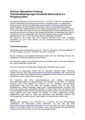 PDF Document zo teilnahmebedingungen facebook gewinnspiel