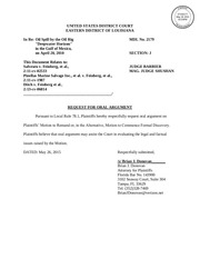 salv request for oral argument lexis 05262015