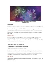 made alive part 1 study guide
