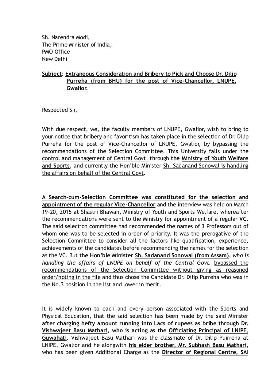 Extraneous Consideration to select the VC of LNUPE.pdf - page 1/2