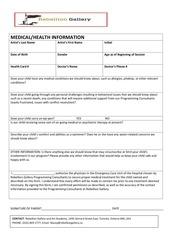 medical form 2015