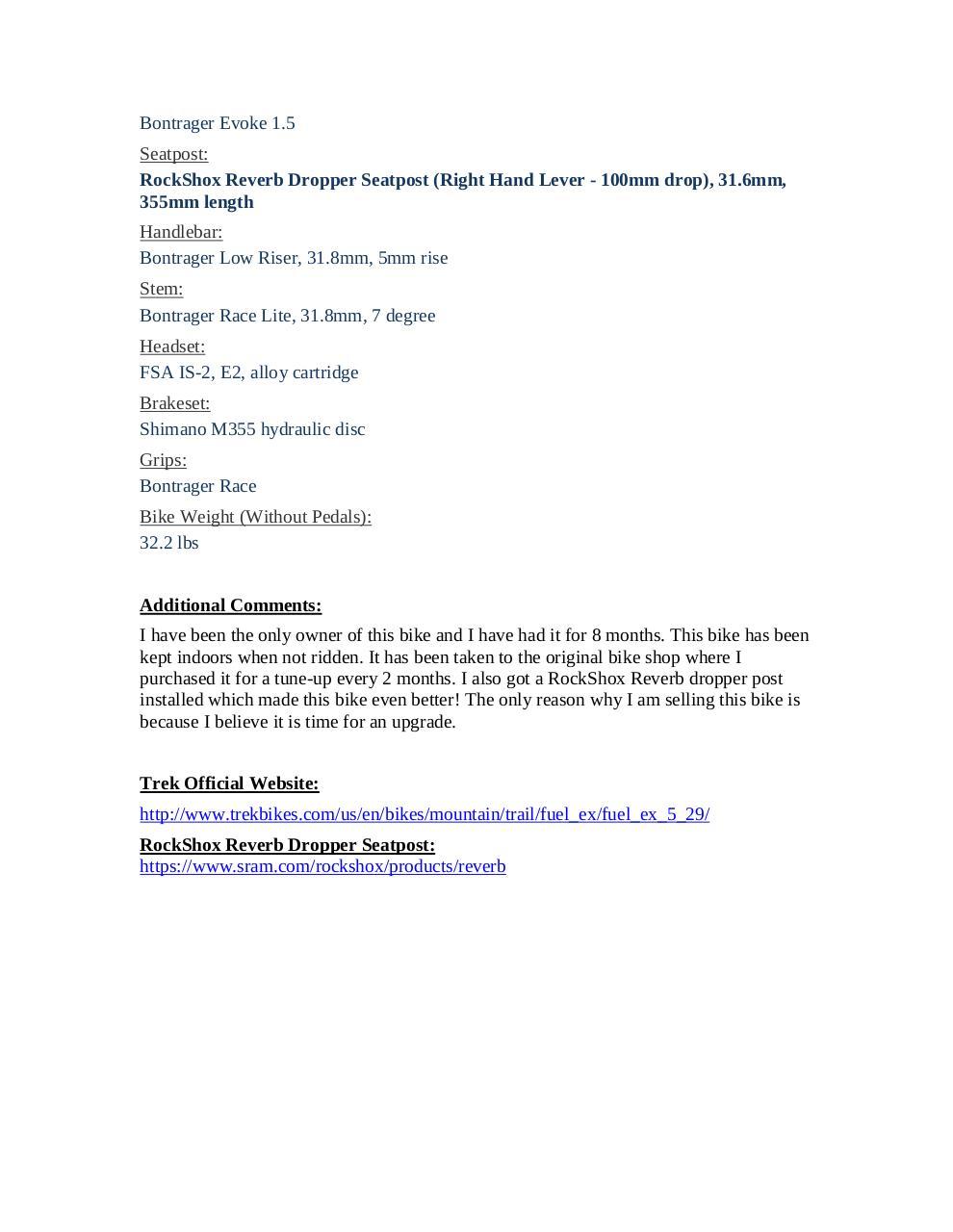2015 Trek Fuel EX5 by Daniel Cole - PDF Archive