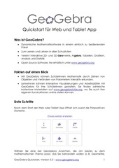 geogebra quickstart de web tablet