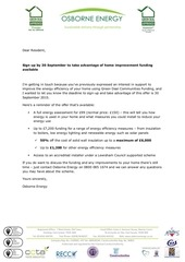scheme closure letter