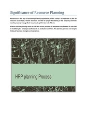 PDF Document significance of resource planning