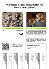 PDF Document verkaufsschild reinrassige bengal katzen mit stammbaum