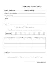 formularz zwrotu pdf