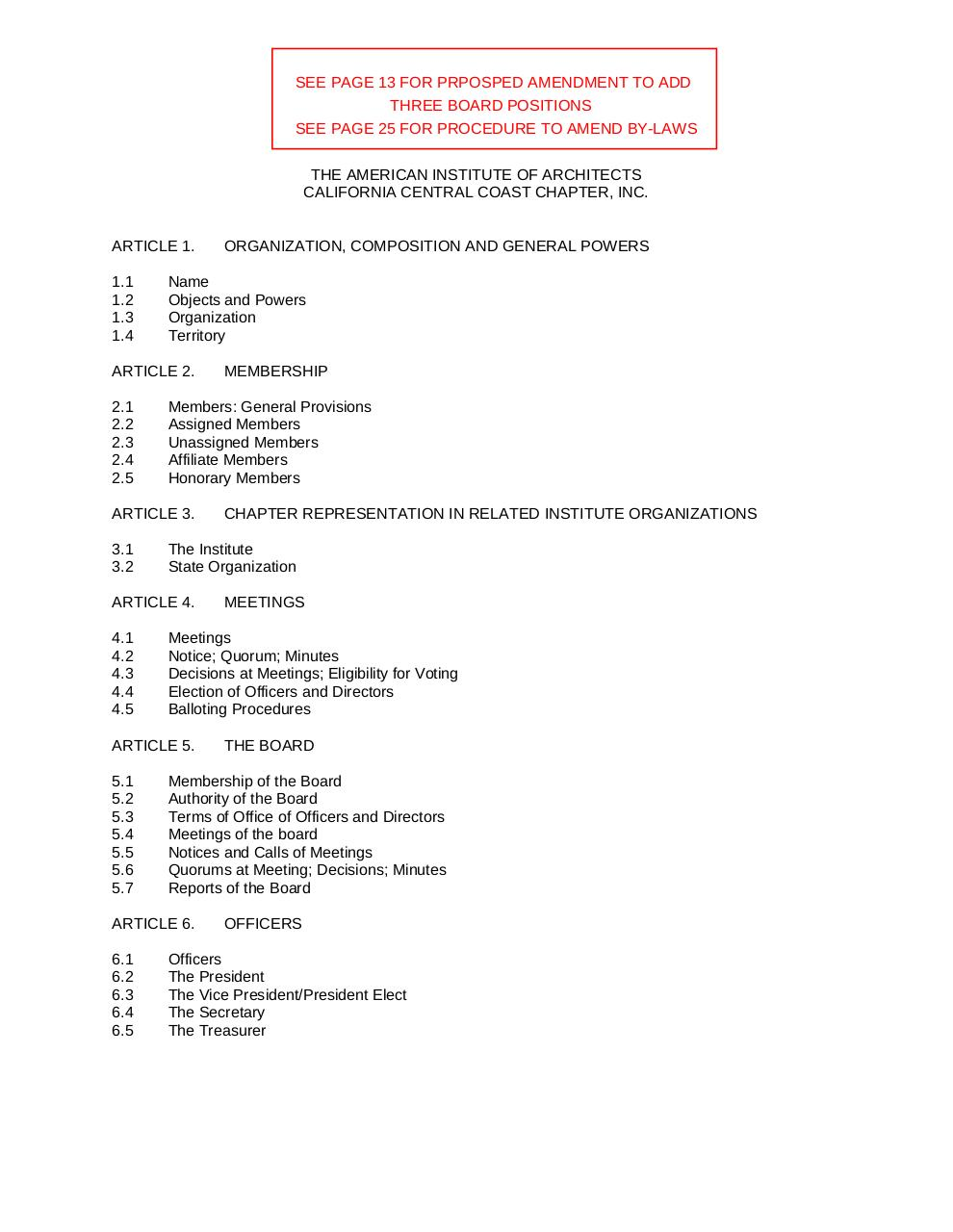 AIACCC Bylaws Amendment Mark-up New Board Position.pdf - page 1/25