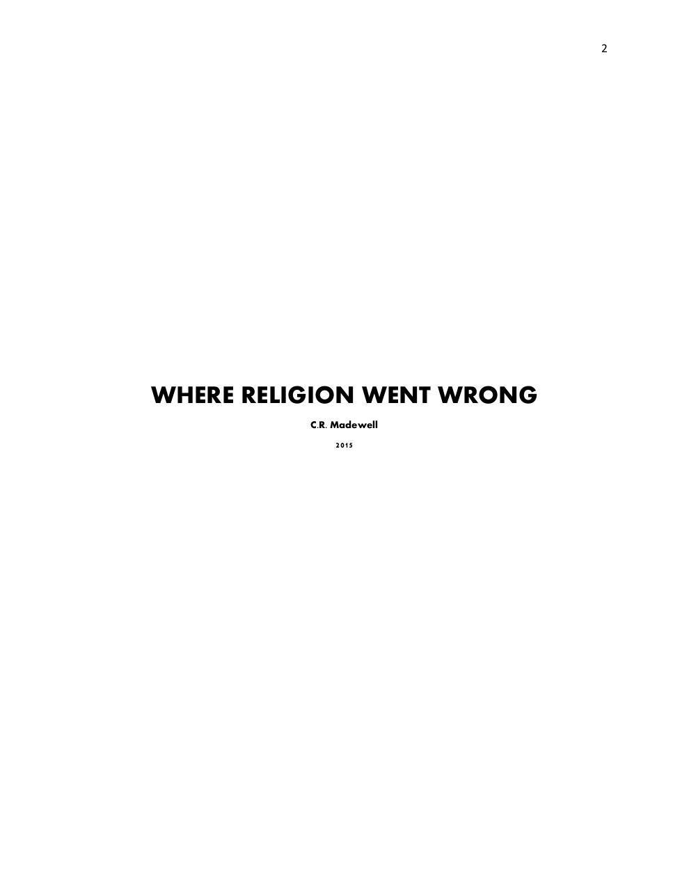 Where Religion Went Wrong.pdf - page 2/19