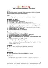 PDF Document job interview confidence workshop