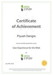 open2study certificate