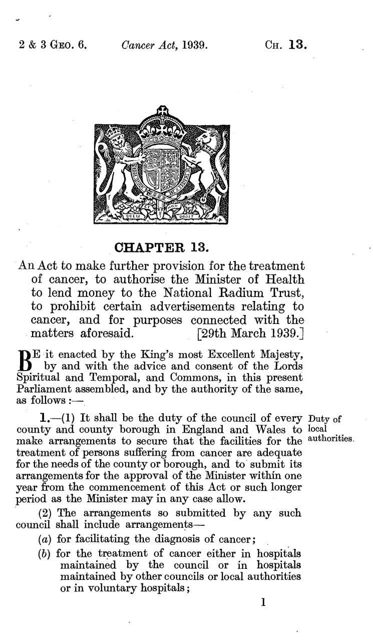 Cancer Act 1939.pdf - page 2/11