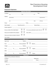 employment application sfhdc 1