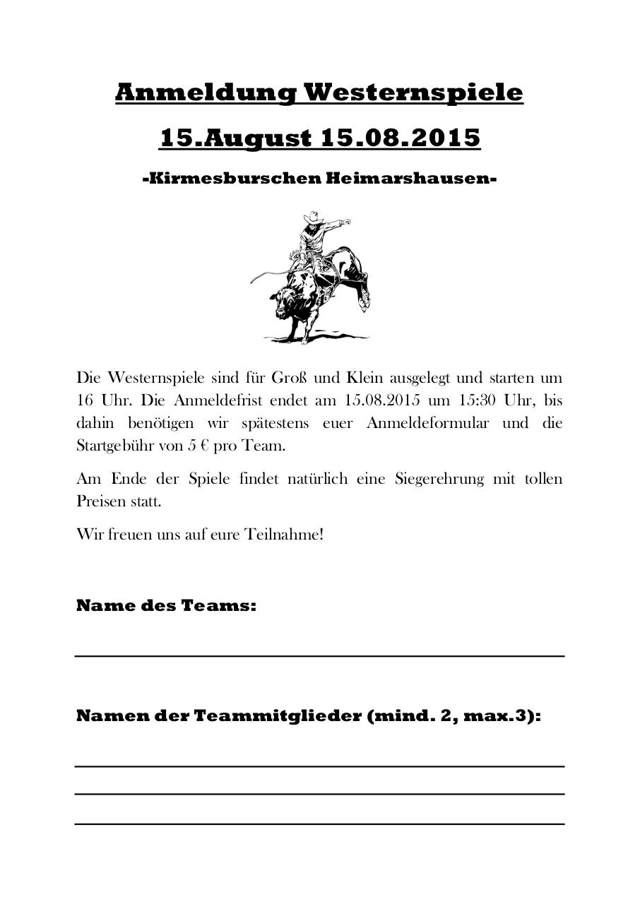 Document preview Anmeldung Westernspiele 2015.pdf - page 1/1