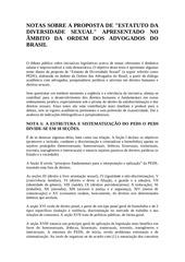 notas sobre a proposta de estatuto da diversidade sexual oab