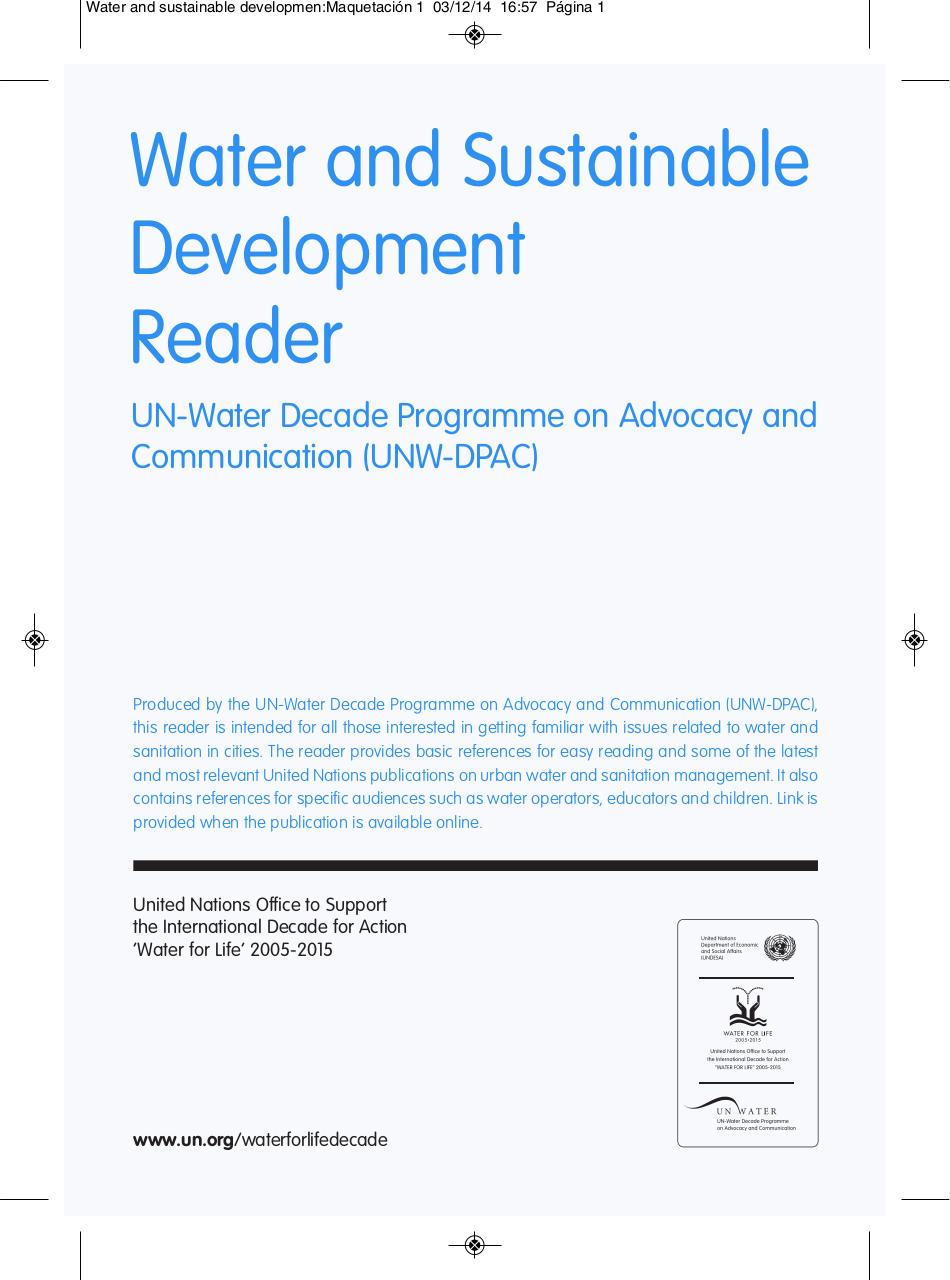 Reader_Water and sustainable development.pdf - page 1/28