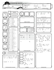 PDF Document character sheet form fillable varis