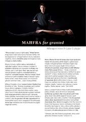 mahfra for granted