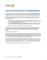 how to update rotaract club information en