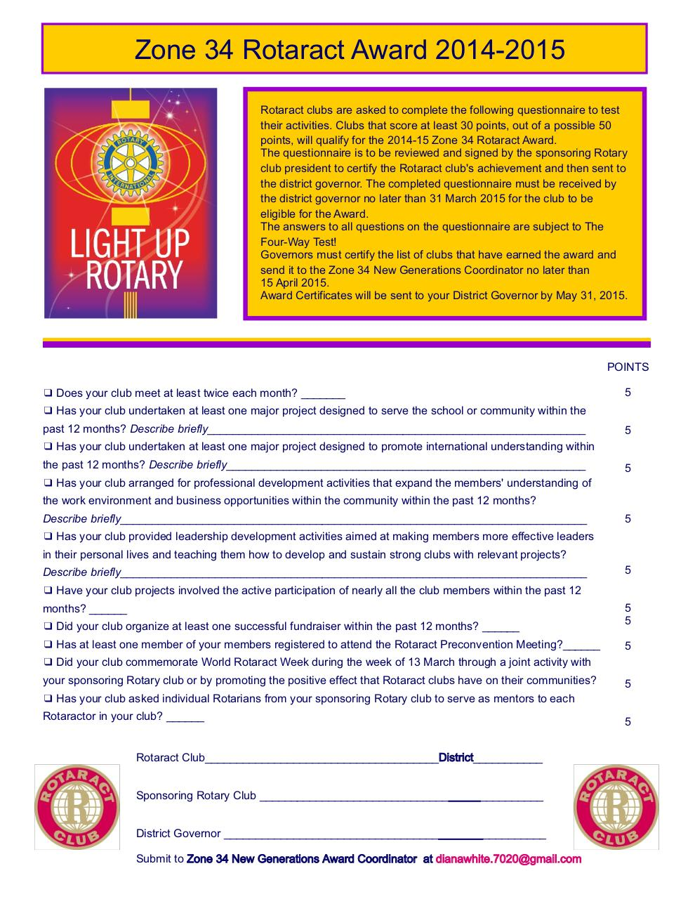 Rotaract Zone 34 Award Application 14-15.pdf - page 1/3
