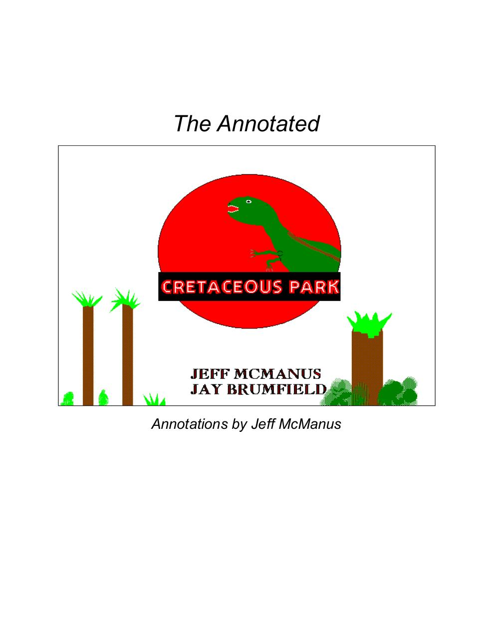 The Annotated Cretaceous Park.pdf - page 1/45