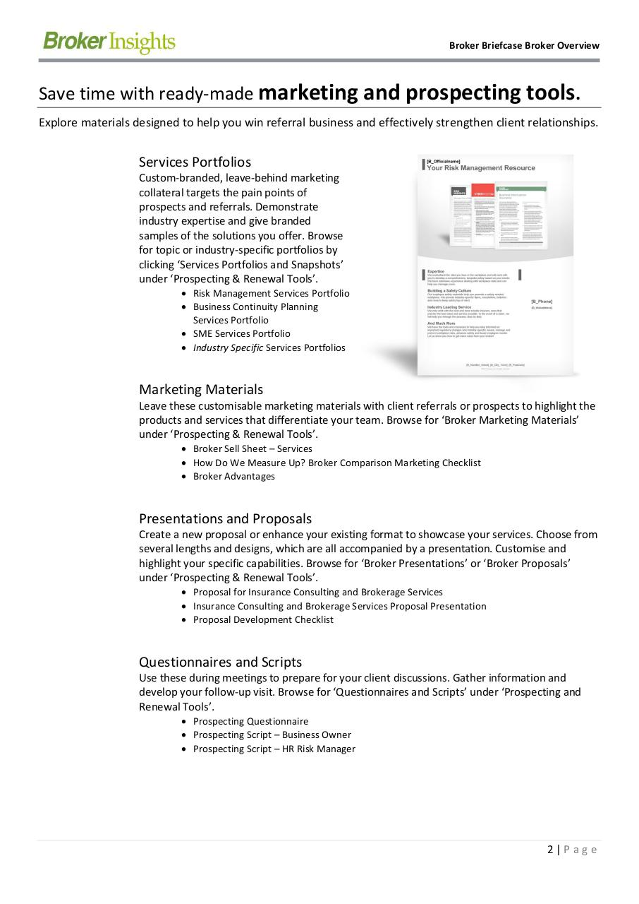 Broker Briefcase Broker Overview.pdf - page 2/9