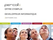 offre d emploi percall