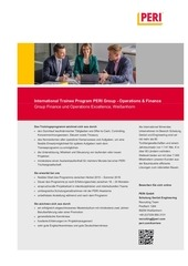 ausschreibung trainee program operations finance