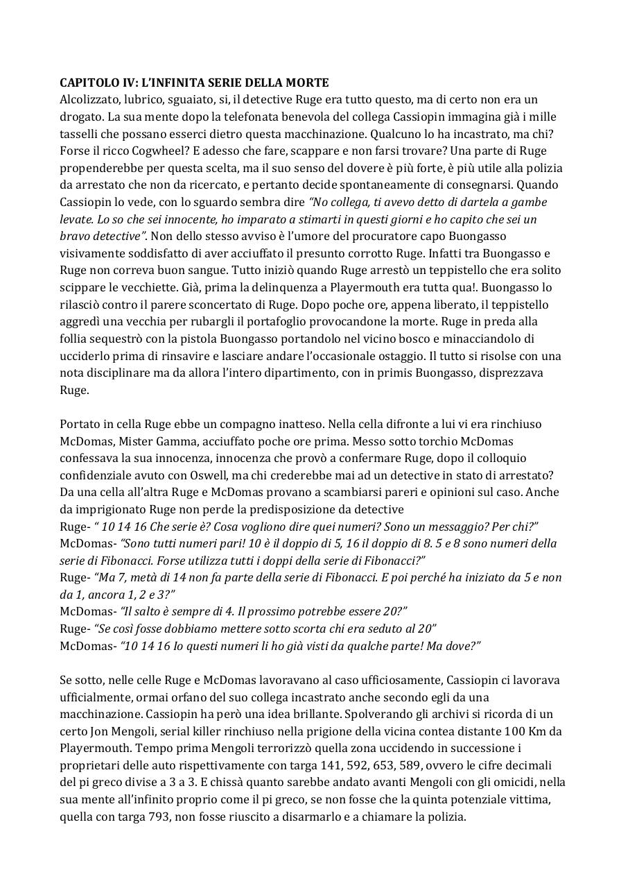 Document preview IB CAPITOLO IV L'infinita serie della morte.pdf - page 1/2