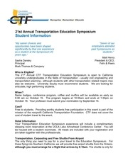 student info about education symposium