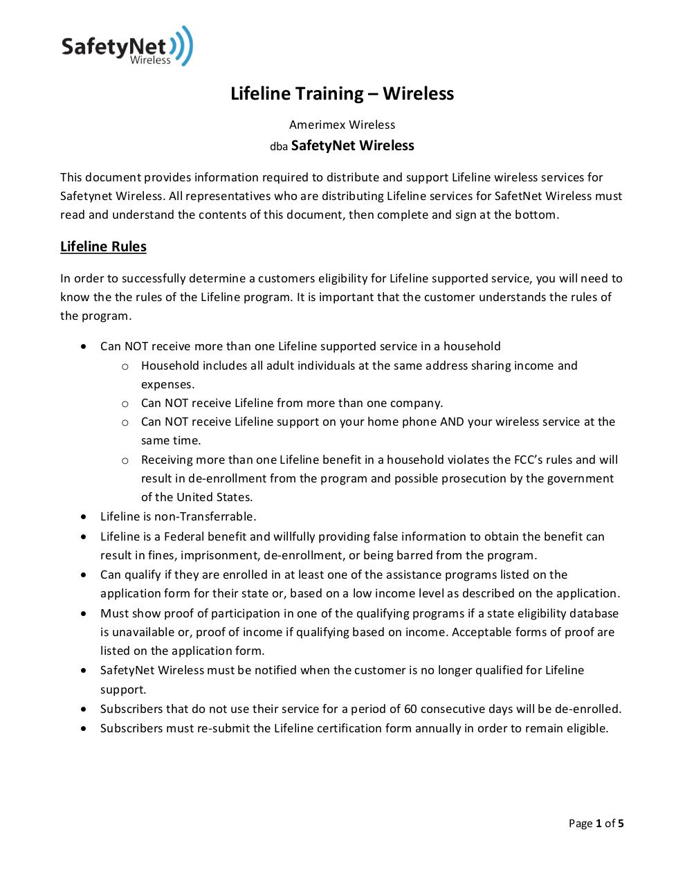 Document preview LifelineTraining.pdf - page 1/5