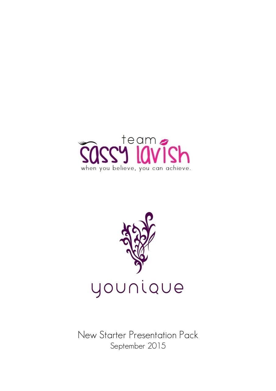 New Starter Presentation Pack - Team Sassy Lavish.pdf - page 1/10